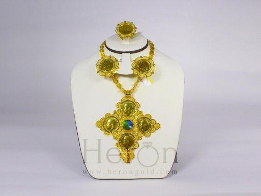 Habesha Eritrean Ethiopian Gold Silver Jewelery Heron Gold